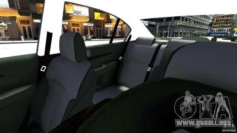 Subaru Legacy B4 para GTA 4 vista interior