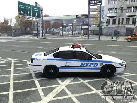 Chevrolet Impala NYCPD POLICE 2003 para GTA 4 visión correcta