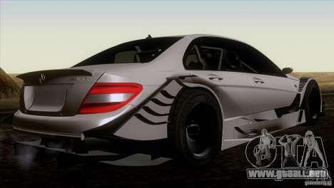 Mercedes Benz C-Class Touring 2008 para GTA San Andreas vista posterior izquierda