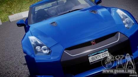Nissan GT-R R35 2010 v1.3 para GTA motor 4
