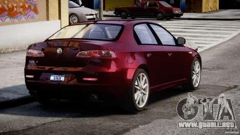 Alfa Romeo 159 Li para GTA 4 Vista posterior izquierda