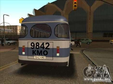 PAZ 672 para GTA San Andreas vista posterior izquierda