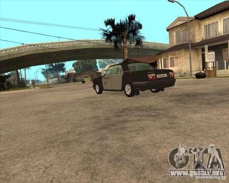 Días laborables de GAZ Volga 3110 policía para GTA San Andreas left