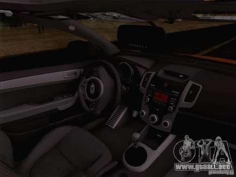 Kia Forte Koup SX para visión interna GTA San Andreas