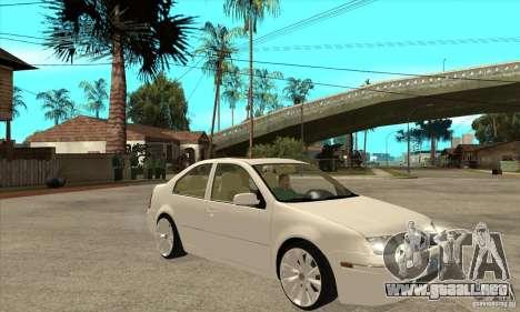 Volkswagen Bora VR6 4MOTION para GTA San Andreas vista hacia atrás