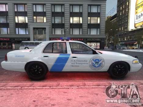 Ford Crown Victoria Homeland Security para GTA 4 vista hacia atrás