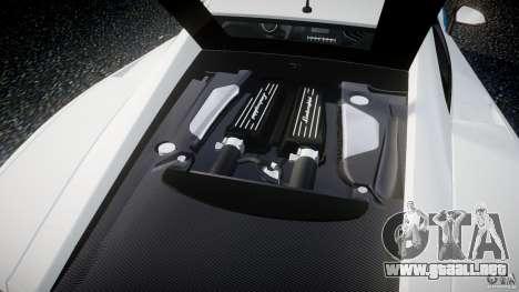Lamborghini Gallardo LP570-4 Superleggera 2011 para GTA 4 vista hacia atrás