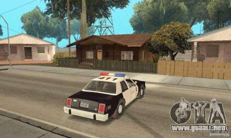 Ford LTD Crown Victoria Interceptor LAPD 1985 para GTA San Andreas left