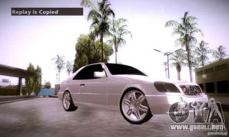 Mercedes-Benz 600SEC para la visión correcta GTA San Andreas