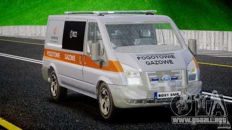 Ford Transit Usluga polski gazu [ELS] para GTA 4 visión correcta