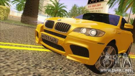 BMW X6M E71 v2 para GTA San Andreas vista posterior izquierda