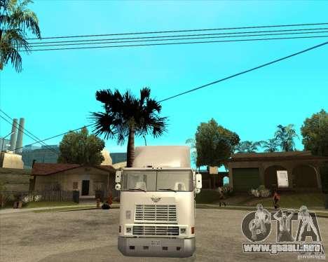 Navistar International 9800 para GTA San Andreas vista hacia atrás