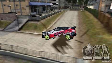 Subaru Impreza WRX STI Rallycross Eibach Springs para GTA 4 left
