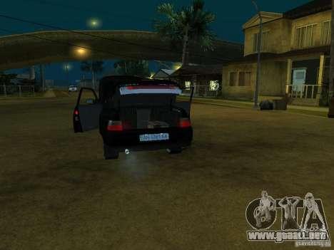 VAZ 2110 para GTA San Andreas vista hacia atrás