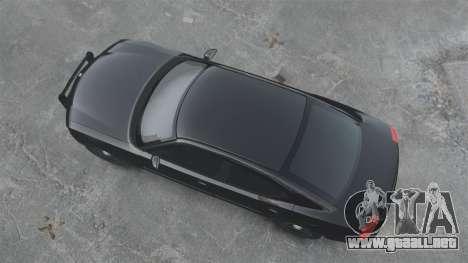 Dodge Charger RT Hemi FBI 2007 para GTA 4 Vista posterior izquierda