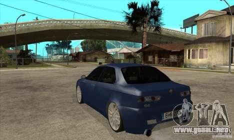 Alfa Romeo 156 Light Tune para GTA San Andreas vista posterior izquierda