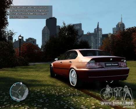 BMW 320i E46 v1.0 para GTA 4 visión correcta