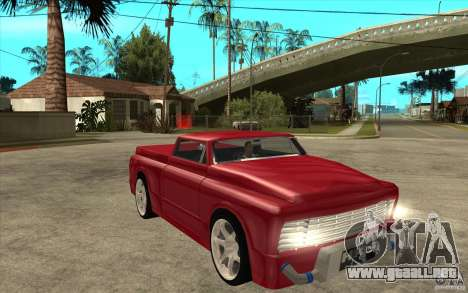 Slamvan Custom para GTA San Andreas vista hacia atrás