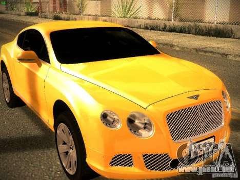 Bentley Continental GT 2011 para la visión correcta GTA San Andreas
