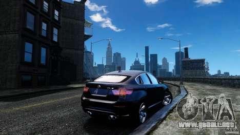 BMW X6 2013 para GTA 4 Vista posterior izquierda