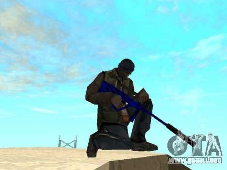 Blue and black gun pack para GTA San Andreas sucesivamente de pantalla