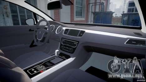 Peugeot 508 Macedonian Police [ELS] para GTA 4 visión correcta