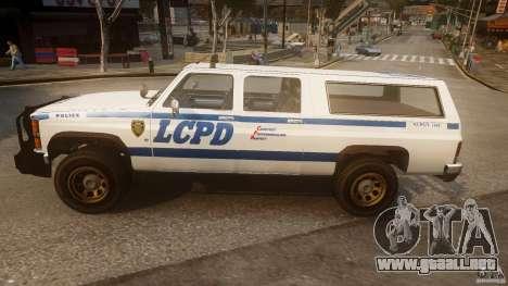 Declasse Yosemite Police para GTA 4 left