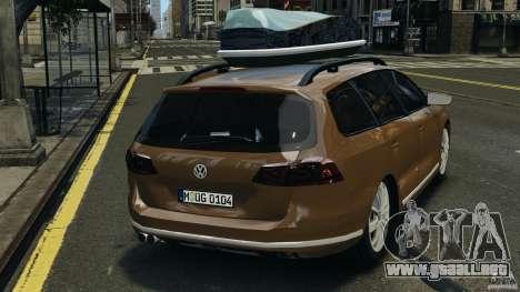 Volkswagen Passat Variant B7 para GTA 4 Vista posterior izquierda