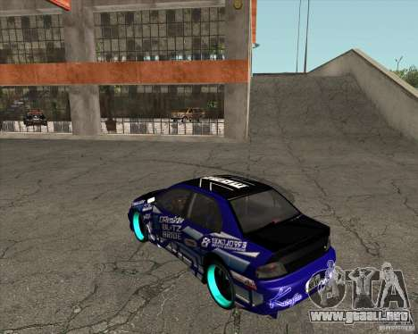 Mitsubishi Lancer Evolution 8 para GTA San Andreas left