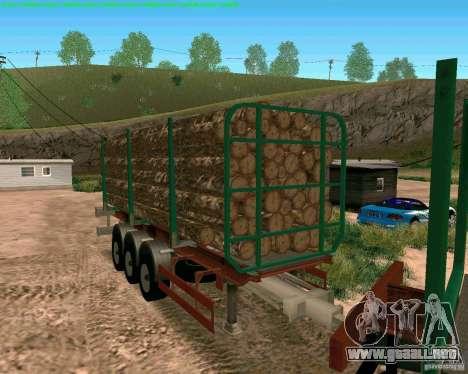 Trailer de Kamaz 65117 para GTA San Andreas vista posterior izquierda