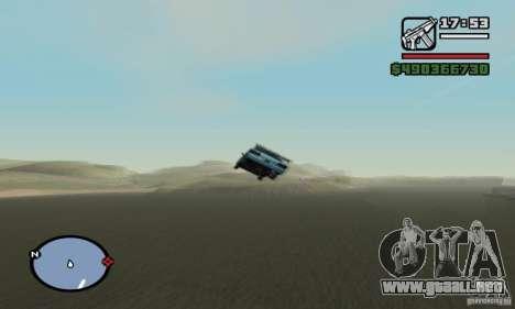 El trampolín para GTA San Andreas sucesivamente de pantalla