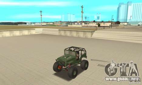 Jeep Willys Rock Crawler para la visión correcta GTA San Andreas
