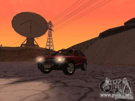 Hyundai Santa Fe Classic para GTA San Andreas vista hacia atrás
