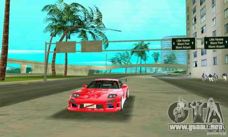 Mazda RX7 Charge-Speed para GTA Vice City vista lateral