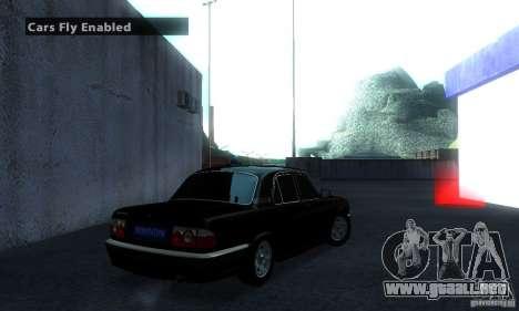 GAZ 31105 Volga abogado para GTA San Andreas vista posterior izquierda