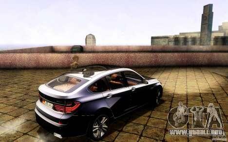 BMW 550i GranTurismo 2009 V1.0 para GTA San Andreas interior