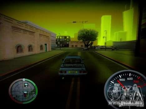 Velocímetro de Centrale v2 para GTA San Andreas tercera pantalla