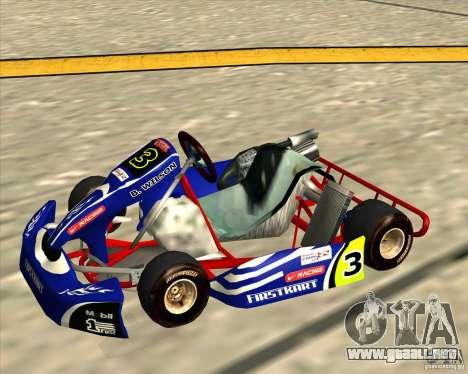 Shifter kart Honda CR 125 para GTA San Andreas vista posterior izquierda