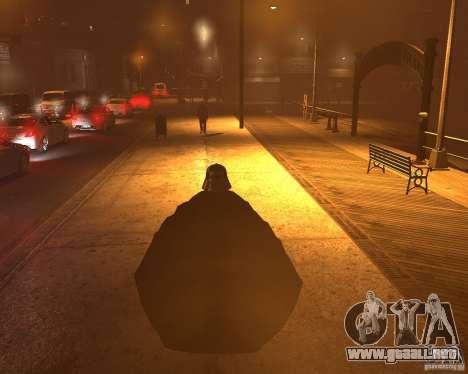 Dart Vader para GTA 4 adelante de pantalla