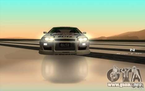 Nissan Skyline ER34 D1GP Blitz para visión interna GTA San Andreas