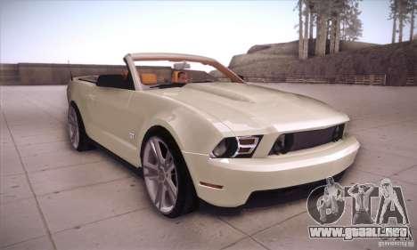 Ford Mustang 2011 Convertible para GTA San Andreas vista hacia atrás