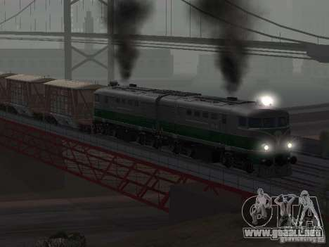 TE2-414 para GTA San Andreas vista hacia atrás