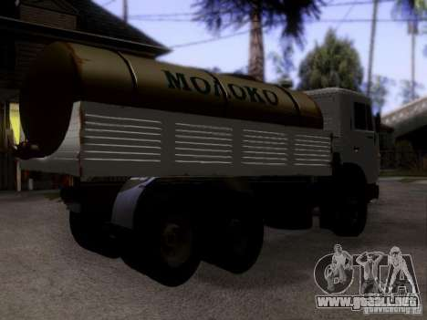 Camión KAMAZ 53212 leche para GTA San Andreas left