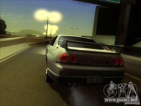Nissan Skyline GTR BNR33 para la visión correcta GTA San Andreas