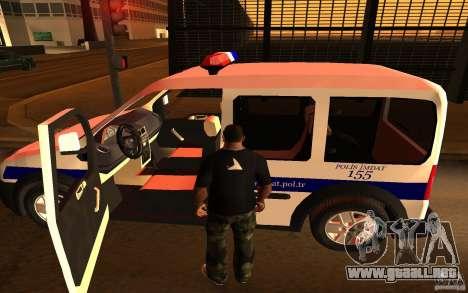 Ford Transit Connect Turkish Police para la visión correcta GTA San Andreas