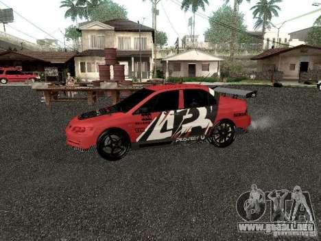 Mitsubishi Lancer Evo 8 para GTA San Andreas left
