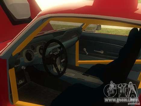 Ford Mustang 1967 GT Tuned para visión interna GTA San Andreas