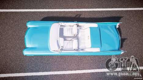 Cadillac Eldorado 1959 interior white para GTA 4 vista hacia atrás