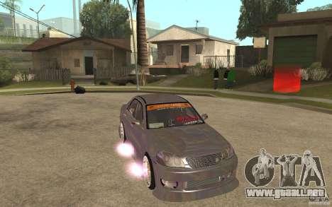 Toyota JZX110 Chaser V.I.P. Drifter para GTA San Andreas vista hacia atrás