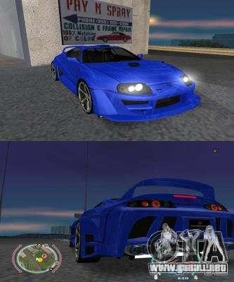 Toyota Supra 2006 Most Wanted para GTA San Andreas left